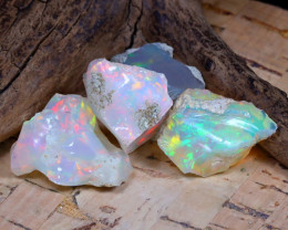 Welo Rough 31.29Ct Natural Ethiopian Play Of Color Rough Opal F0909