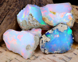 Welo Rough 40.78Ct Natural Ethiopian Play Of Color Rough Opal F0910