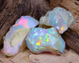 Welo Rough 43.32Ct Natural Ethiopian Play Of Color Rough Opal F0911