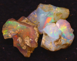 26.00Ct Multi Color Play Ethiopian Welo Opal Rough JF1116/R2