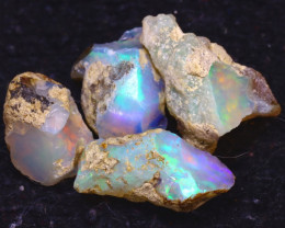 23.40Ct Multi Color Play Ethiopian Welo Opal Rough JF1120/R2