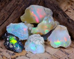 Welo Rough 37.70Ct Natural Ethiopian Play Of Color Rough Opal E1002