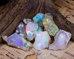 Welo Rough 34.39Ct Natural Ethiopian Play Of Color Rough Opal E1003