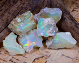 Welo Rough 36.94Ct Natural Ethiopian Play Of Color Rough Opal E1004