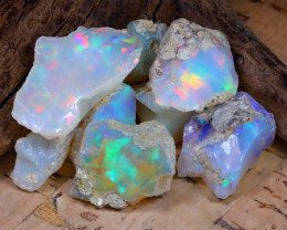 Welo Rough 34.50Ct Natural Ethiopian Play Of Color Rough Opal E1007
