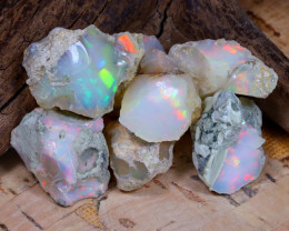 Welo Rough 40.39Ct Natural Ethiopian Play Of Color Rough Opal E1008