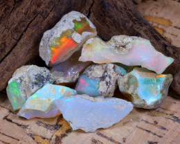 Welo Rough 39.30Ct Natural Ethiopian Play Of Color Rough Opal E1010