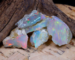 Welo Rough 40.44Ct Natural Ethiopian Play Of Color Rough Opal F1001
