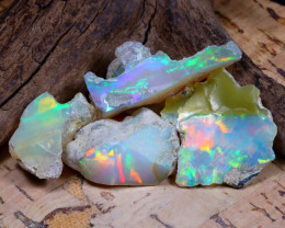 Welo Rough 36.66Ct Natural Ethiopian Play Of Color Rough Opal F1002