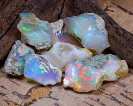 Welo Rough 35.59Ct Natural Ethiopian Play Of Color Rough Opal F1006