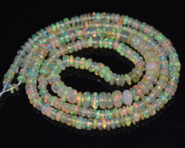 30.35 Ct Natural Ethiopian Welo Opal Beads Play Of Color OB1128