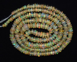 24.10 Ct Natural Ethiopian Welo Opal Beads Play Of Color OB1134