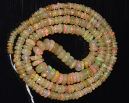 35.80 Ct Natural Ethiopian Welo Opal Beads Play Of Color OB1135