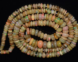 48.05 Ct Natural Ethiopian Welo Opal Beads Play Of Color OB1139
