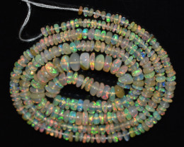 30.65 Ct Natural Ethiopian Welo Opal Beads Play Of Color OB1141
