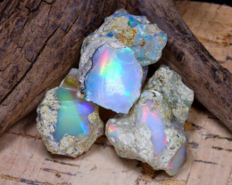 Welo Rough 45.03Ct Natural Ethiopian Play Of Color Rough Opal F1201