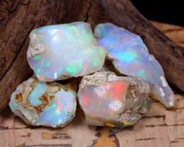 Welo Rough 41.99Ct Natural Ethiopian Play Of Color Rough Opal F1202