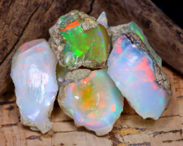 Welo Rough 44.91Ct Natural Ethiopian Play Of Color Rough Opal F1203