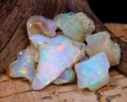 Welo Rough 40.16Ct Natural Ethiopian Play Of Color Rough Opal F1204