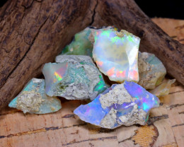 Welo Rough 38.52Ct Natural Ethiopian Play Of Color Rough Opal F1205