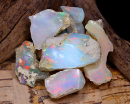Welo Rough 44.03Ct Natural Ethiopian Play Of Color Rough Opal F1206