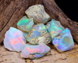 Welo Rough 42.81Ct Natural Ethiopian Play Of Color Rough Opal F1207