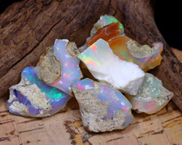 Welo Rough 43.23Ct Natural Ethiopian Play Of Color Rough Opal F1209