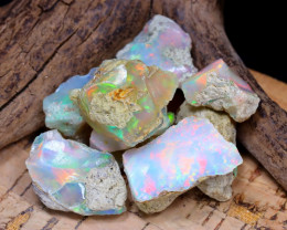 Welo Rough 43.14Ct Natural Ethiopian Play Of Color Rough Opal F1211