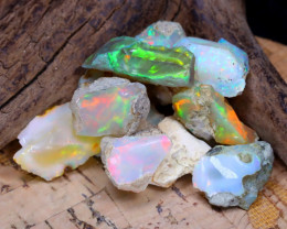 Welo Rough 36.38Ct Natural Ethiopian Play Of Color Rough Opal E1205