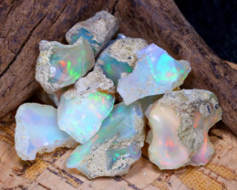 Welo Rough 36.70Ct Natural Ethiopian Play Of Color Rough Opal E1207