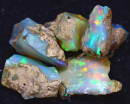 26.00Ct Multi Color Play Ethiopian Welo Opal Rough JF1311/R2