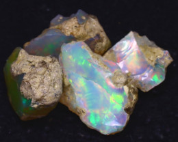 26.30Ct Multi Color Play Ethiopian Welo Opal Rough JF1315/R2