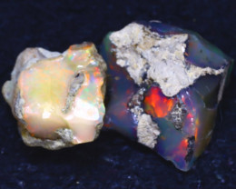25.60Ct Multi Color Play Ethiopian Welo Opal Rough JF1316/R2