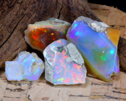 Welo Rough 38.29Ct Natural Ethiopian Play Of Color Rough Opal D1302