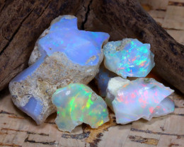 Welo Rough 30.24Ct Natural Ethiopian Play Of Color Rough Opal D1305