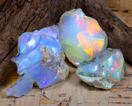 Welo Rough 31.38Ct Natural Ethiopian Play Of Color Rough Opal F1302