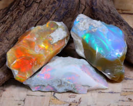 Welo Rough 41.65Ct Natural Ethiopian Play Of Color Rough Opal F1304