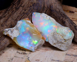 Welo Rough 30.11Ct Natural Ethiopian Play Of Color Rough Opal F1307