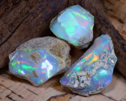 Welo Rough 32.34Ct Natural Ethiopian Play Of Color Rough Opal F1310