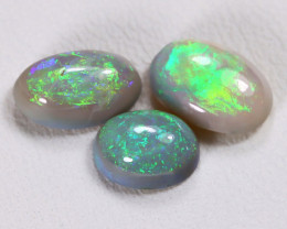 2.54Cts Australian Lightning Ridge Dark Black Opal Parcel Lot ES0036