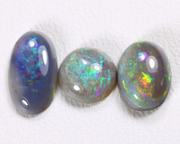 2.10Cts Australian Lightning Ridge Dark Black Opal Parcel Lot ES0054