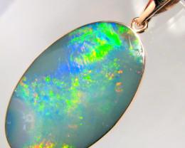 Australian Opal Pendant 8.95ct 14k Rose Gold Inlaid Doublet D22