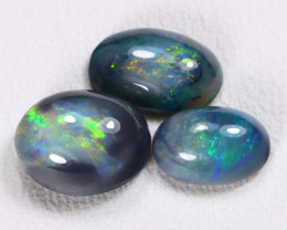 N3-N4 2.20Cts Australian Lightning Ridge Black Opal Parcel Lot ES0107