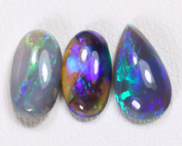 2.06Cts Australian Lightning Ridge Dark Black Opal Parcel Lot ES0127