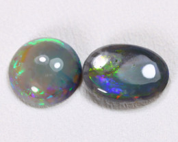 N4 2.00Cts Australian Lightning Ridge Black Opal Parcel Lot ES0130