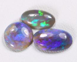2.08Cts Australian Lightning Ridge Dark Black Opal Parcel Lot ES0138
