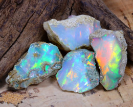 Welo Rough 37.69Ct Natural Ethiopian Play Of Color Rough Opal D1403