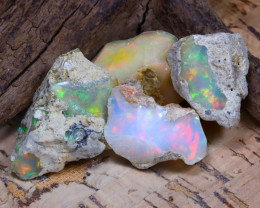 Welo Rough 48.03Ct Natural Ethiopian Play Of Color Rough Opal F1406