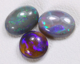 2.00Cts Australian Lightning Ridge Dark Black Opal Parcel Lot ES0151