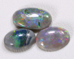 2.12Cts Australian Lightning Ridge Dark Black Opal Parcel Lot ES0159